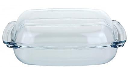 Cristal molde cuadrado – 4,1 l) – Molde con tapa – Cuenco de