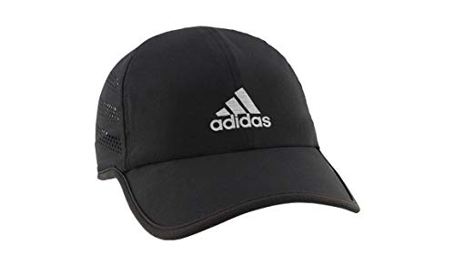 adidas Mens Superlite Pro Relaxed Adjustable Performance Cap, Black/Silver Reflective, One Size