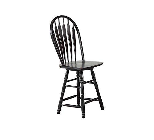 Wood & Style Furniture Swivel Barstool, 30