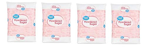 (4 pack) Great Value Confectioners Powdered Sugar, 2 Lb