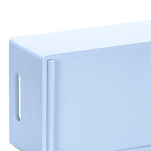 Hojas Lust - Caja de Madera para Guardar en tamaño m - Pino Azul Lacado Aprox. 30 x 20 x 14 cm - Madera Maciza Certificado FSC: Amazon.es: Hogar