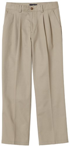 Dockers Big Boys' Pleated Pant W Double Knee-School Uniform,Khaki,14