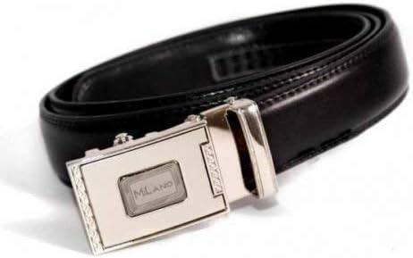 Leather Emporium Mens Black Designer Leather Belt With Automatic Buckle 2788