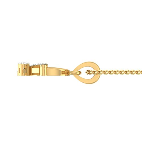 Or jaune 18 K diamants 0,08 ct tw Round-shape (IJ | SI) diamant Pendentif