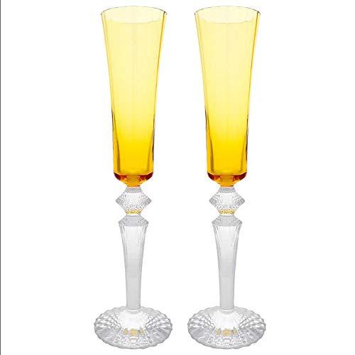 Mille Nuits Topaz Flute Amber - Set of 2