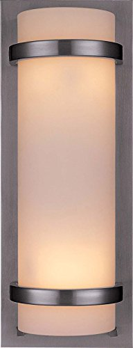 Minka Lavery Wall Sconce Lighting 341-84, Glass Damp Bath Vanity Fixture, 2 Light, 200 Watts, Nickel