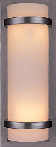 Minka Lavery Wall Sconce Lighting 341-84, Glass Damp Bath Vanity Fixture, 2 Light, 200 Watts, ()