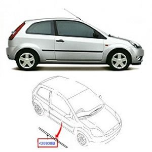 Ford Fiesta MK6 derecha Moldura De La Puerta (3DR): Amazon.es: Coche y moto