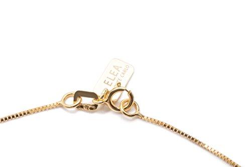 LOVE - Collier «Coeur» Or Jaune - réglable 2,00 cm - Oxyde de Zirconium - tit. 9K - 375/1000
