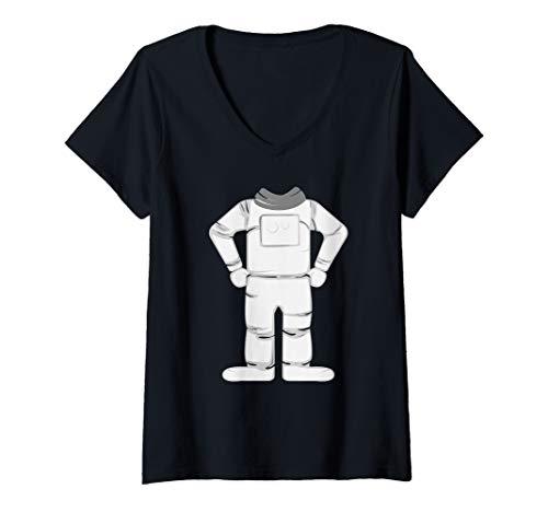 Womens Astronaut Costume Halloween Art Funny Space Explorer Gift V-Neck T-Shirt]()