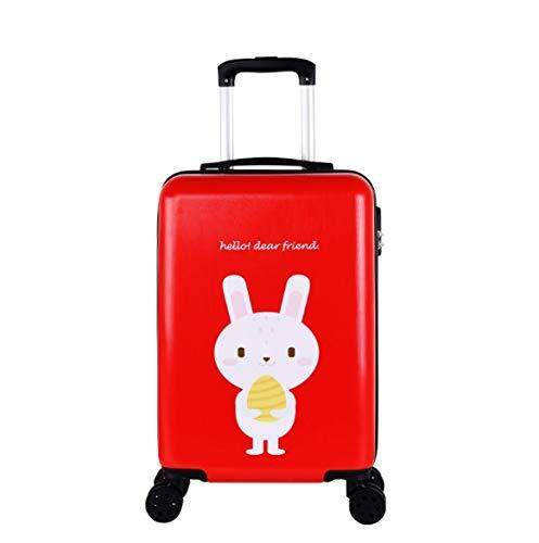 トロリーユニバーサルホイール漫画の子供のスーツケースの女性の韓国語バージョン24インチ20インチ26インチ B07PLKJ9DR レッド XL