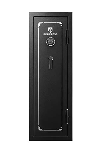 Fortress 8-Gun Fireproof Safe with Electronic Lock, Black