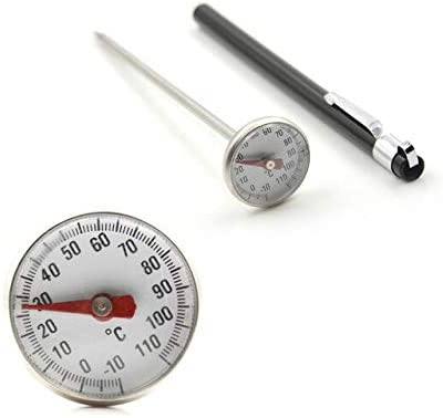 Stainless Steel BBQ Smoker Grill 50-500℃ Thermometer Temperature Gauge