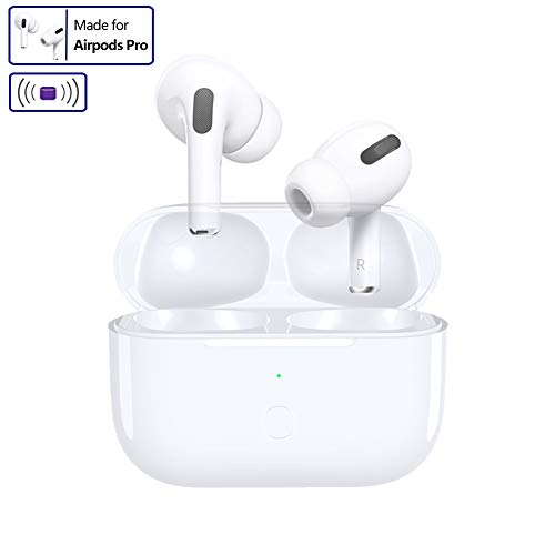 SibyTech Charging Case Replacement for Airpods Pro with Sync Button,Compatible with Airpods Pro, 660mAh Built-in Battery, White