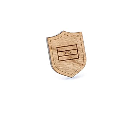 Top Venezuela Flag Lapel Pin, Wooden Pin And Tie Tack | Rustic And Minimalistic Groomsmen Gifts And Wedding Accessories for cheap