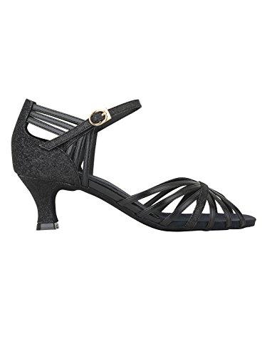 Rumpf 2273 Zapato Baile Mujer Latino Salsa Tango Sintético Color negro brillante tacón 5 cm Negro