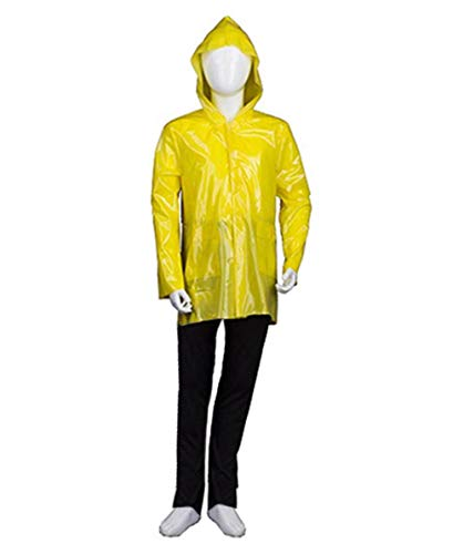 Halloween Party Online Kid's IT Georgie Raincoat Costume, Yellow Large -