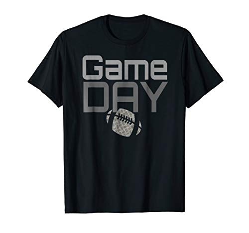 Football T-Shirt Game Day Distressed Design Fantasy Fan ()