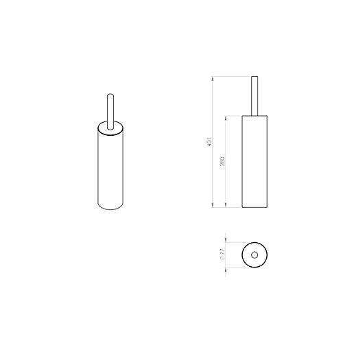 Gedy Edera Round Toilet Brush Holder, Polished Chrome