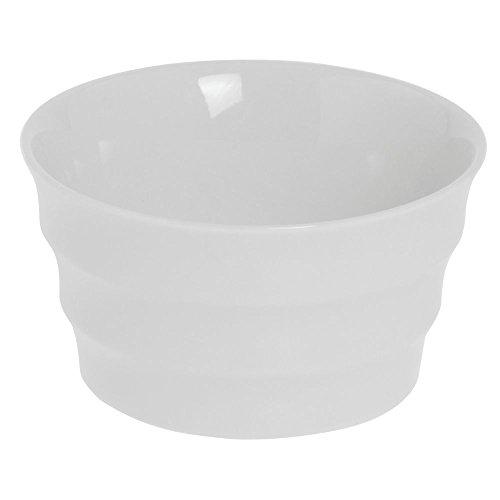 BIA Cordon Bleu 6 oz Round White Ceramic Stockholm Ramekin - 3 3/4