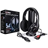 Shalleen Wireless Headphones Cordless RF 5 in 1 Headset With Mic for PC TV DVD CD MP3 MP4