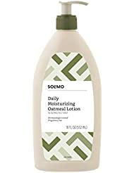 Amazon Brand - Solimo Daily Moisturizing Oatmeal Lotion, Fragrance Free, 18 Fluid Ounces