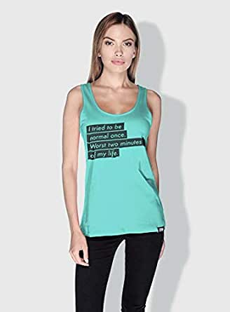 Creo I Tried To Be Normal Once Funny Tanks Tops For Women - S, Green
