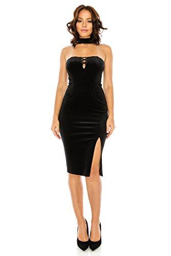 glam black midi dress - 7