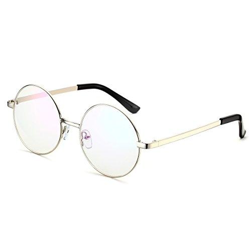 PenSee Optical Metal Round Circle Glasses Eyeglasses Eyewear