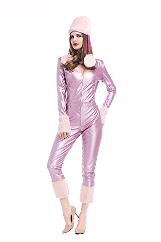 PINSE Xmas Candy Cane Santa Costume Christmas Pink Dress (Candy Cane Outfit)