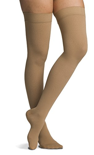 SIGVARIS Men's COTTON 230 Closed Toe Thigh high w/ Grip-T...