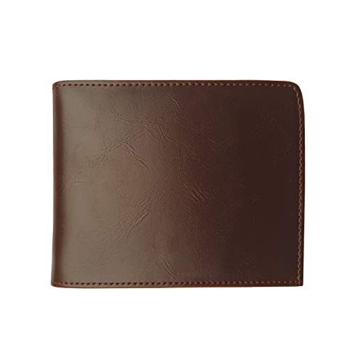 Napal Swiss Top Genuine Leather Amazing RFID Security Credit Card Case Holder Magic Slim Back Pocket Wallet for Men or Women (Brown)