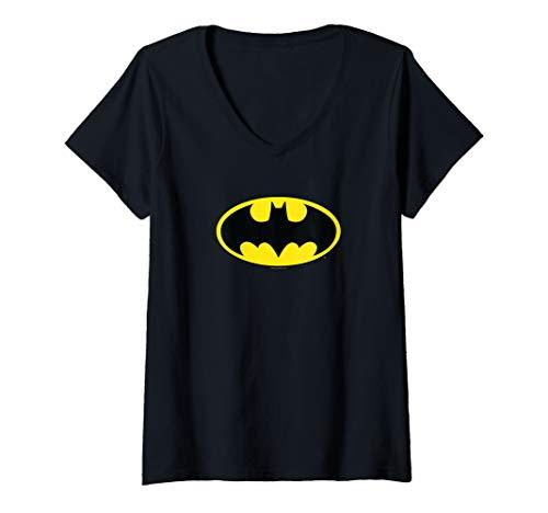 Batman Womens Shirt (Womens Batman Classic Logo V-Neck)