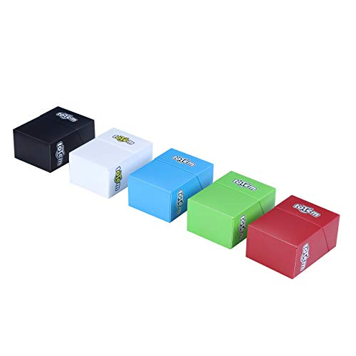 5 Premium Totem Deck Boxes In Assorted Bright Colors - Fits Pokemon, Yu-Gi-Oh, and Magic The Gathering Cards - Durable Plastic Won't Bend Or Break - Perfect As Party Favors Or Kids Birthday Gifts