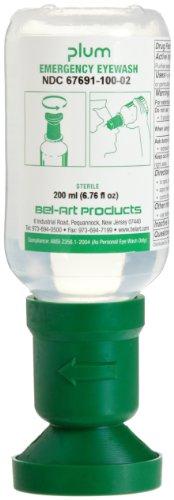 PLUM Eye Wash Station Bottle Refill, 200ml Sterile Saline (Pack of 3) (F24880-0023) - Station Eye Wash Bottle Refill