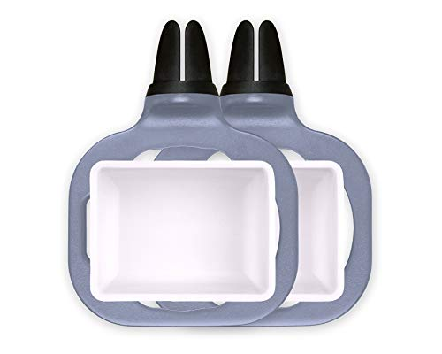 Saucemoto Dip Clip | An in-car sauce holder for ketchup and dipping sauces. (2 Pack, Gray)