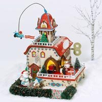 Department 56 North Pole Seriess Checking It Twice Wind-Up Toys, Gift Set of 5 56757