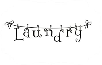 Vinyl Laundry Room Clothesline Decal Wall Art Wall Sticker Wall - Custom vinyl wall decals sayings for laundry room