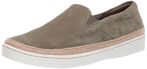 CLARKS Women's Marie Pearl Loafer Olive Nubuck 070 M US