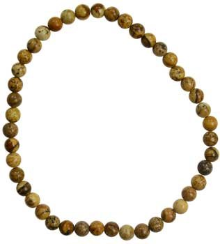 4mm Picture Jasper stretch * -