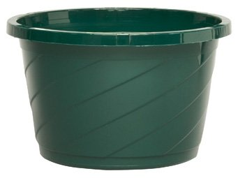 1  12 Inch Green Plastic Hanging Basket Pot with 4 Strand Metal Hanging Wires