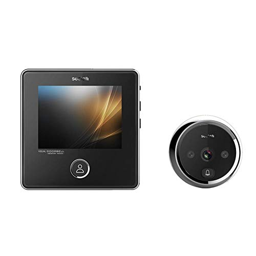 Electronic Cat Eye HD Video Doorbell with 3MP IR Night Vision Camera,3inch TFT LCD Screen -