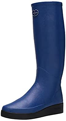 LE CHAMEAU 1927 Women's Jersey Lined Paris Rain Boot Blue
