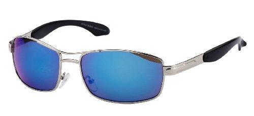 8015 Line Verspiegelte Modern Blau Rahmen Argenté soleil Lunettes Silberner de Gläser Subke 1n6qOdO