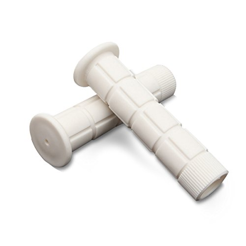OUTERDO New Handlebar Grips Bicycle MTB BMX Road Mountain Bike Soft Rubber End, White