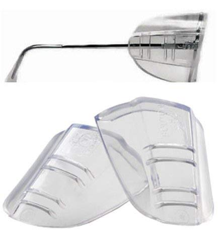 MALUAN 5 Pairs Slip-On Safety Eye Glasses Side Shields, Clear Flexible, Suitable for Most Size of Glasses, Added More Protection on Safety Glasses