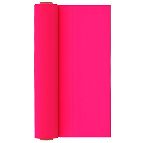 Neon Pink Heat Transfer Vinyl Roll Heat Press Iron on HTV for T-Shirts 12 inches x 10 Feet