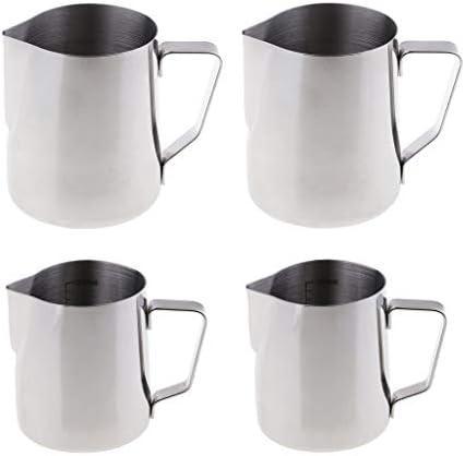 dailymall ステンレス鋼 コーヒーポット 注ぐポット 300ml/500ml ハンドル付き 多目的 丈夫 4個入り