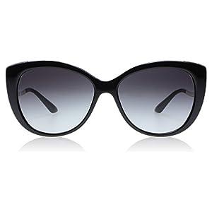 Bvlgari BV8178 901-8G Black / Gold BV8178 Cats Eyes Sunglasses Lens Category 3