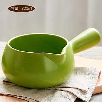 Sartenes Sopa Con Tallarines Instantáneos Sobre Una Sartén Pequeña Leche Caliente Forma De Bebé Estofado Mango